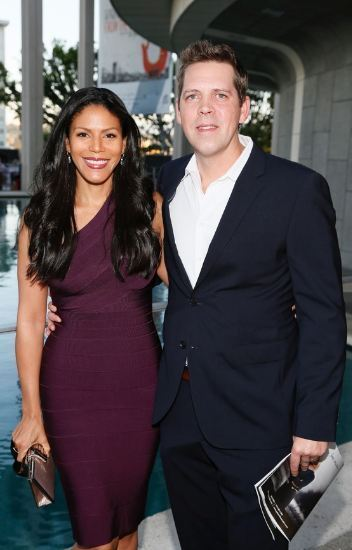Merle-Dandridge-with-her-ex-husband-Christopher-Johnston