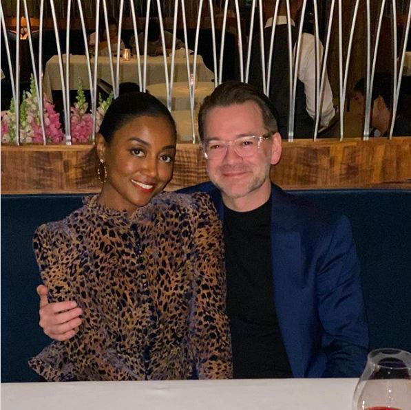 Patina-Miller-with-her-husband-David-Mars-in-2020