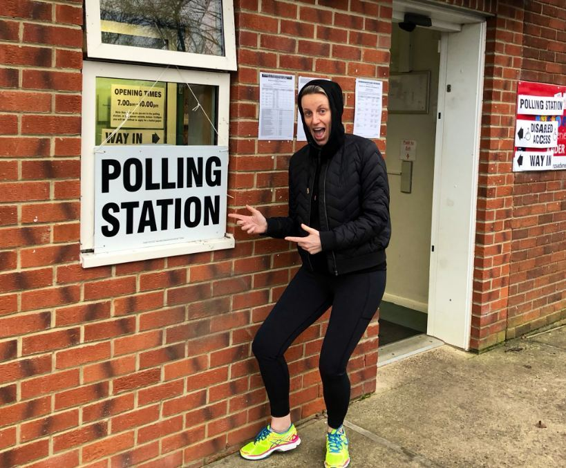 Steph-McGovern-at-a-polling-station-in-2019