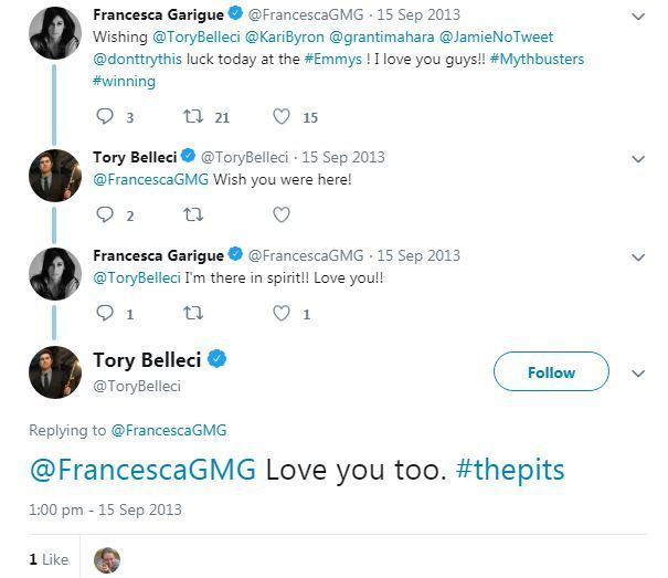 tory belleci dating
